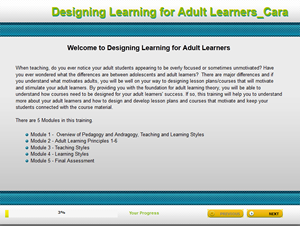 Designing Learning for Adult Learners